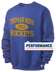 Truman Moon Elementary School Rockets  Russell Men's Dri-Power Crewneck Sweatshirt