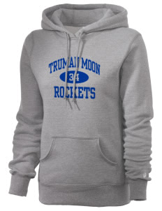 Truman Moon Elementary School Rockets Russell Women's Pro Cotton Fleece Hooded Sweatshirt