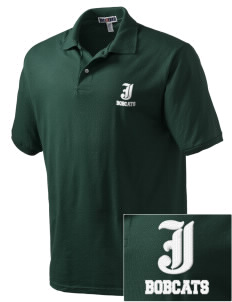 Jenkins Elementary School Bobcats Embroidered Men's Jersey Polo