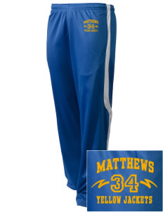 Matthews Elementary School Yellow Jackets Embroidered Holloway Men's Tricotex Warm Up Pants