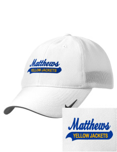 Matthews Elementary School Yellow Jackets Embroidered Nike Golf Mesh Back Cap