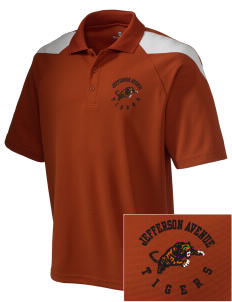 Jefferson Avenue Elementary School Tigers Embroidered Holloway Men's Frequency Performance Pique Polo