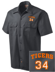 Jefferson Avenue Elementary School Tigers Embroidered Dickies Men's Short-Sleeve Workshirt