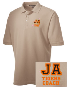 Jefferson Avenue Elementary School Tigers Embroidered Men's Performance Plus Pique Polo