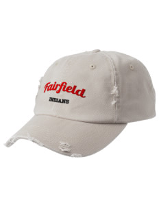 Fairfield High School Indians Embroidered Distressed Cap