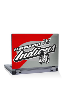 "Fairfield West Elementary School Indians 15"" Laptop Skin"