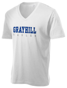 Grayhill Elementary School Eagles Alternative Men's 3.7 oz Basic V-Neck T-Shirt