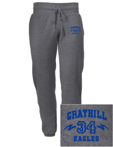 Grayhill Elementary School Eagles Embroidered Alternative Men's 6.4 oz Costanza Gym Pant