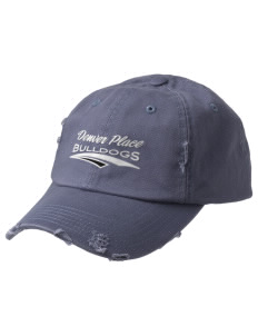 Denver Place Elementary School Bulldogs Embroidered Distressed Cap