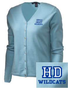 Hilliard Davidson High School Wildcats Embroidered Women's Stretch Cardigan Sweater