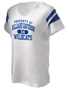 Hilliard Davidson High School Wildcats Holloway Women's Shout Bi-Color T-Shirt