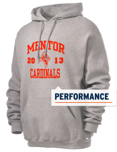Mentor High School Cardinals Russell Men's Dri-Power Hooded Sweatshirt