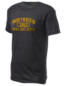 Northview High School Wildcats Embroidered Alternative Unisex Eco Heather T-Shirt