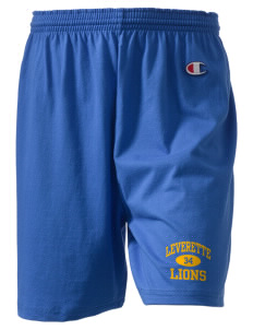 "Leverette Junior High School Lions  Champion Women's Gym Shorts, 6"" Inseam"