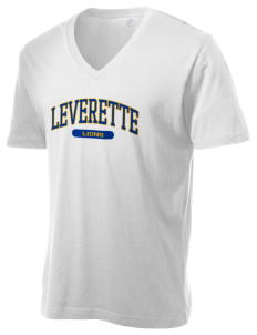 Leverette Junior High School Lions Alternative Men's 3.7 oz Basic V-Neck T-Shirt