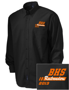 Bradford High School Railroaders  Embroidered Men's Easy Care, Soil Resistant Shirt