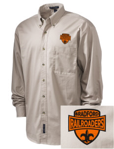 Bradford High School Railroaders Embroidered Men's Twill Shirt