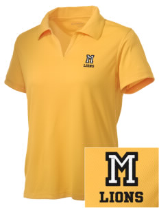 Meadowdale High School Lions Embroidered Women's Double Mesh Polo
