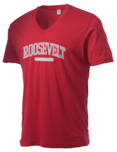 Roosevelt Junior High School Roosevelts Alternative Men's 3.7 oz Basic V-Neck T-Shirt