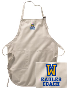 Wilson Elementary School Eagles Embroidered Full-Length Apron with Pockets