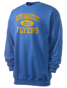 South Main Street Elementary School Flyers Men's 7.8 oz Lightweight Crewneck Sweatshirt