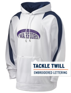 Washington School Warriors Holloway Men's Sports Fleece Hooded Sweatshirt with Tackle Twill