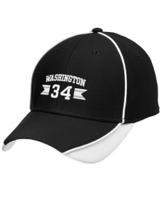Washington School Warriors Embroidered New Era Contrast Piped Performance Cap