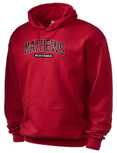 Mathews High School Mustangs Holloway Men's 50/50 Hooded Sweatshirt