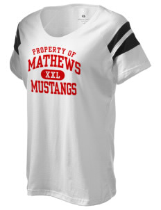 Mathews High School Mustangs Holloway Women's Shout Bi-Color T-Shirt
