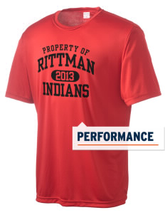 Rittman High School Indians Men's Competitor Performance T-Shirt