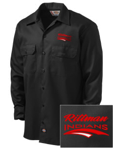Rittman High School Indians Embroidered Dickies Men's Long-Sleeve Workshirt