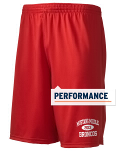 "Mustang Middle School Broncos Holloway Men's Performance Shorts, 9"" Inseam"