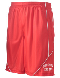 "Mustang Middle School Broncos Men's Pocicharge Mesh Reversible Short, 9"" Inseam"