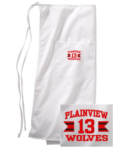 Plainview Elementary School Wolves Embroidered Full Bistro Bib Apron