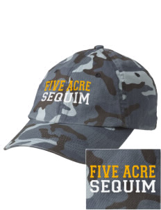 Five Acre School Sequim Embroidered Camouflage Cotton Cap