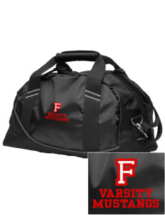 Frontier School Mustangs Embroidered OGIO Half Dome Duffel