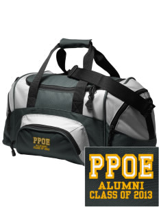 Pikes Peak School of Expeditionary Learn Bears Embroidered Small Colorblock Duffel