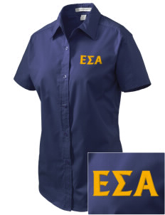 Epsilon Sigma Alpha Embroidered Women's Easy Care Short Sleeve Shirt