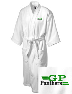 Green Pastures Elementary School Panthers Embroidered Terry Velour Robe