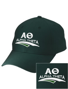 Alpha Theta Embroidered Low-Profile Cap