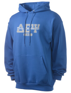 Delta Epsilon Psi Men's 7.8 oz Lightweight Hooded Sweatshirt