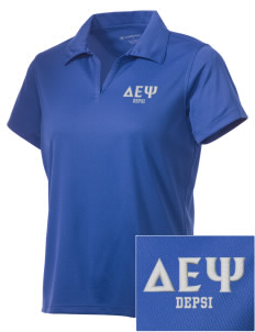 Delta Epsilon Psi Embroidered Women's Double Mesh Polo