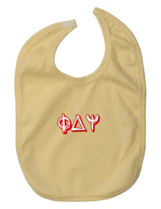 Phi Delta Psi Baby Interlock Bib