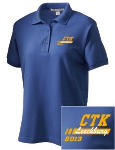 Christ the King Leechburg Women's Embroidered Silk Touch Polo