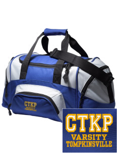 Christ The King Parish Tompkinsville Embroidered Small Colorblock Duffel