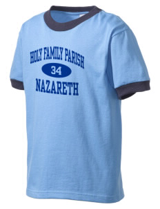 Holy Family Parish Nazareth Kid's Ringer T-Shirt