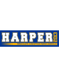 "Immaculate Conception Parish (Danville) Harper Bumper Sticker 11"" x 3"""