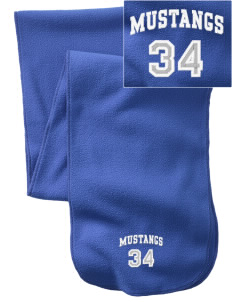 Inkom Elementary School Mustangs  Embroidered Extra Long Fleece Scarf