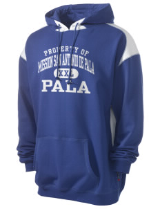 Mission San Antonio de Pala Pala Men's Pullover Hooded Sweatshirt with Contrast Color