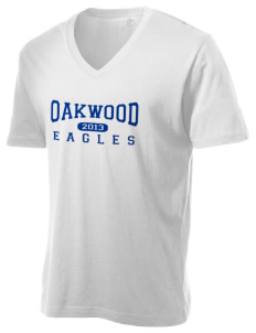 Oakwood Elementary School Eagles Alternative Men's 3.7 oz Basic V-Neck T-Shirt